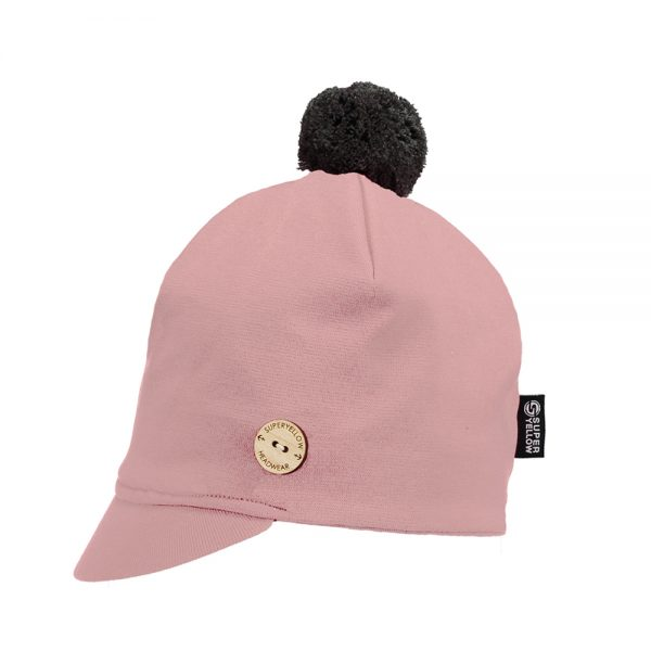 ALTAIR peaked cotton beanie light pink