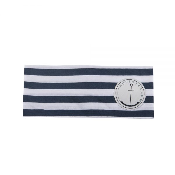 AVA headband dark blue/off white striped