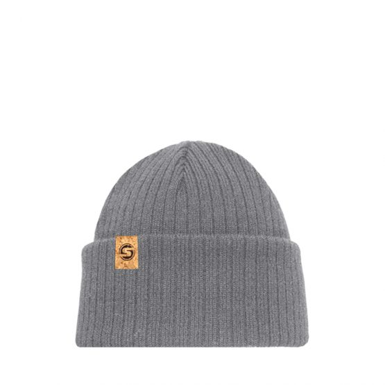BALTIC recycled material beanie in light grey