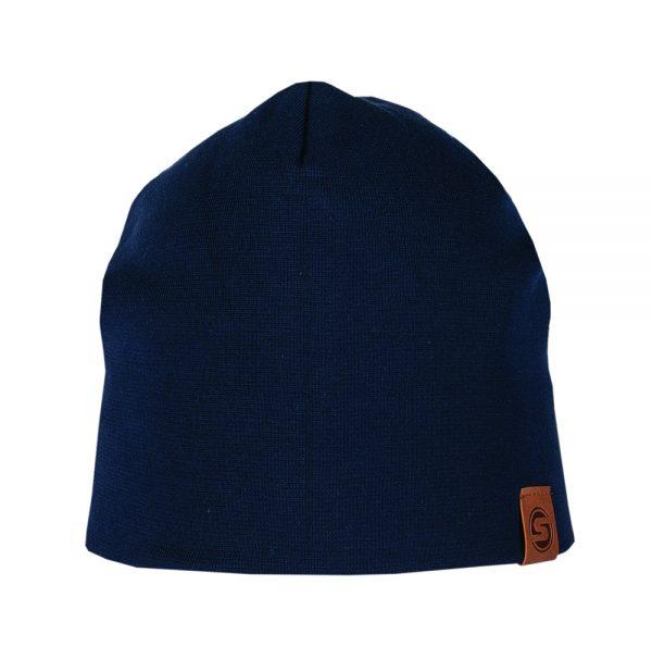 BASIC beanie cotton dark blue