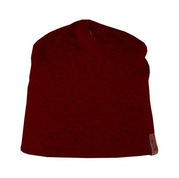 BASIC beanie cotton dark red