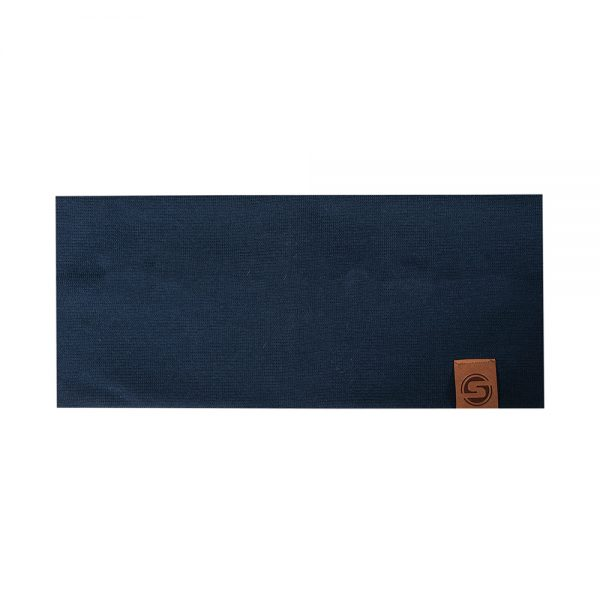 BASIC headband cotton dark blue