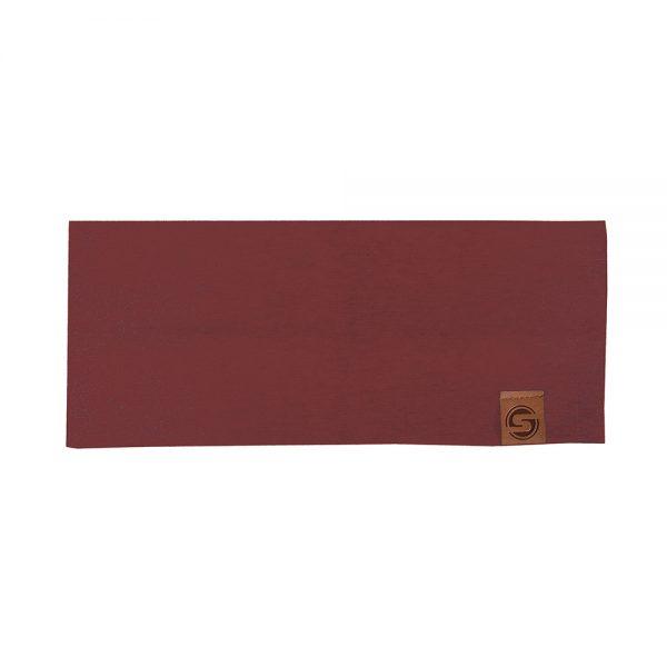 BASIC headband cotton dark red