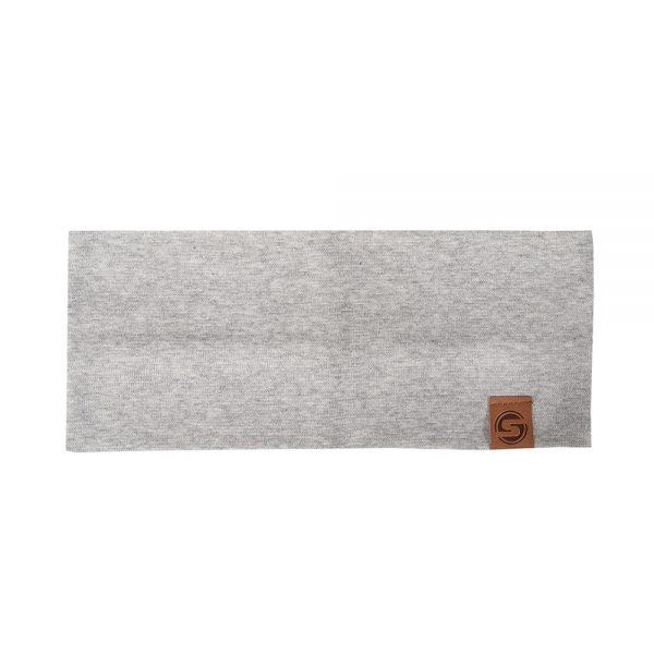 BASIC headband cotton grey melange