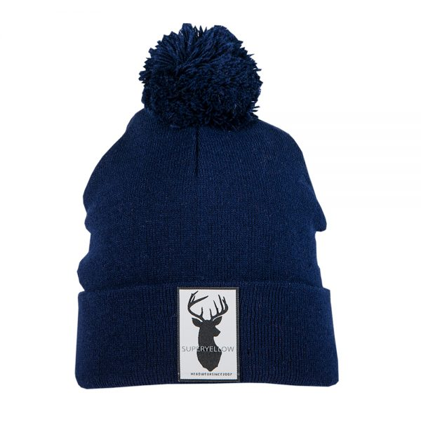 FJELL beanie wool dark blue