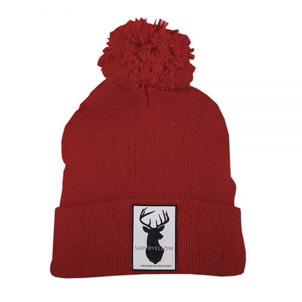 FJELL beanie wool red