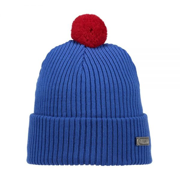 HALO beanie wool blue red