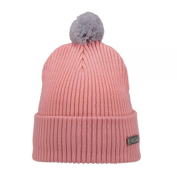 HALO wool beanie light pink grey