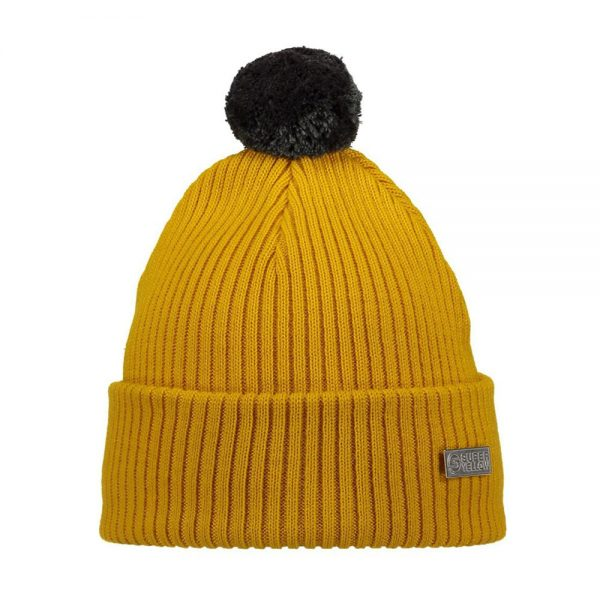 HALO beanie wool mustard yellow grey