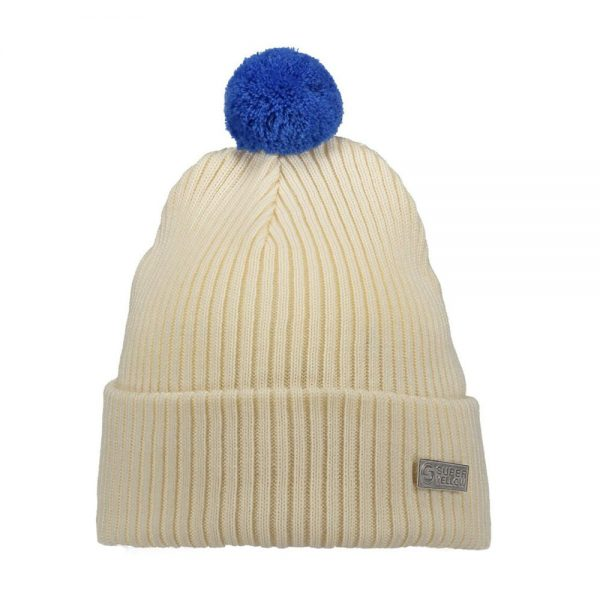 HALO beanie wool off white turquoise
