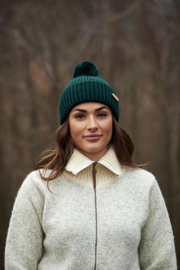 KIDE merino wool beanie dark green