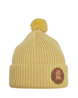 PHOCA Merino wool beanie light yellow