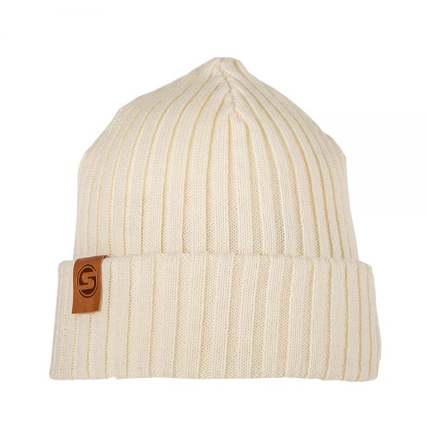 SAILOR JUNIOR knitted wool beanie off white