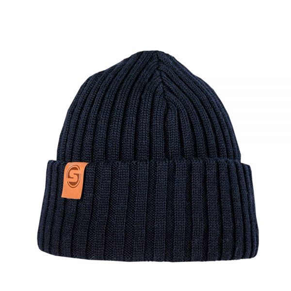 SAILOR JUNIOR knitted wool beanie dark blue