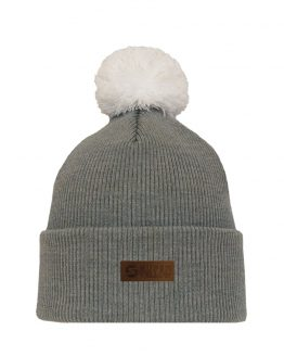 skandic grey kids merino wool beanie superyellow