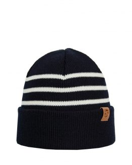SKIPPER merino wool beanie dark blue