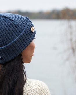 Superyellow ARCTOS beanie steel blue