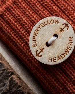 Superyellow Havet beanie terracotta