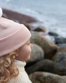 Superyellow Skandic Junior beanie light pink