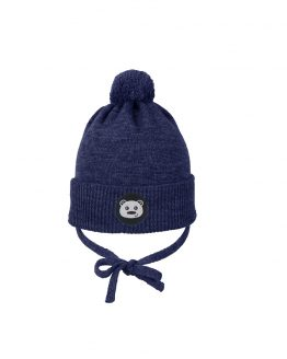 TEDDYBEAR baby beanie denim merino wool organic cotton
