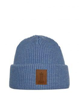 BEACON Merino wool beanie light blue