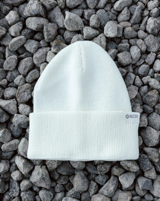 SUPERYELLOW Coast cotton beanie off white detail