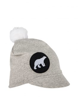 ICY Junior cotton peaked beanie grey melange