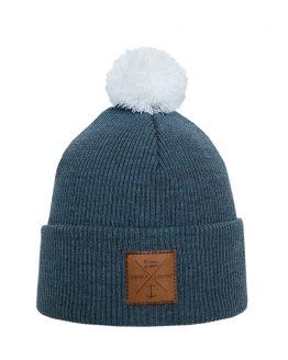 NAVIGARE Merino wool beanie steel blue