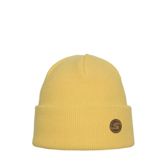 SONNE Junior cotton beanie light yellow