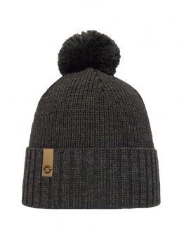 Superyellow Fenno beanie dark grey
