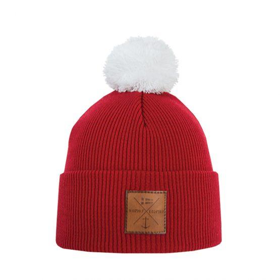 NAVIGARE Merino wool beanie red