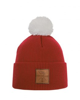 NAVIGARE Junior merino wool beanie red