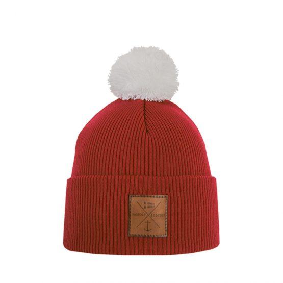NAVIGARE Junior merino wool beanie red