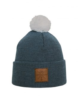 NAVIGARE Junior merino wool beanie steel blue