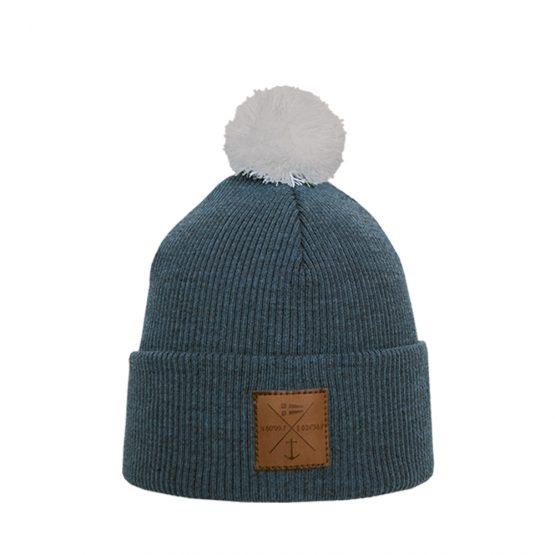 NAVIGARE Junior merino wool beanie steel blue
