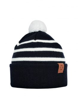 LITTLE SKIPPER Merino wool beanie navy