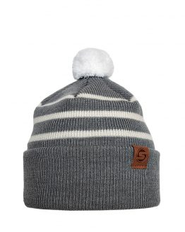 LITTLE SKIPPER merino wool beanie grey