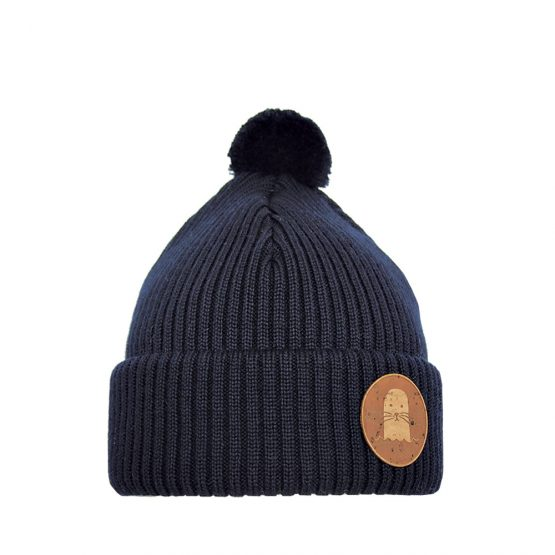 PHOCA Junior beanie dark blue