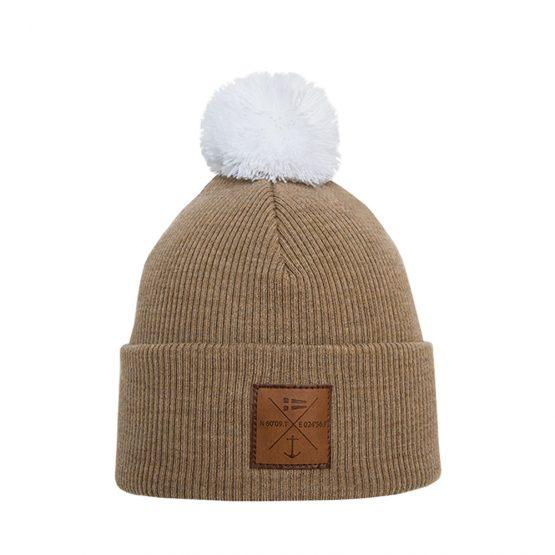NAVIGARE Merino wool beanie beige