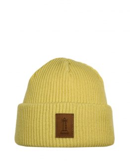 BEACON Merino wool beanie light yellow