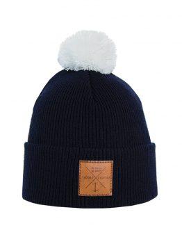 NAVIGARE Merino wool beanie dark blue