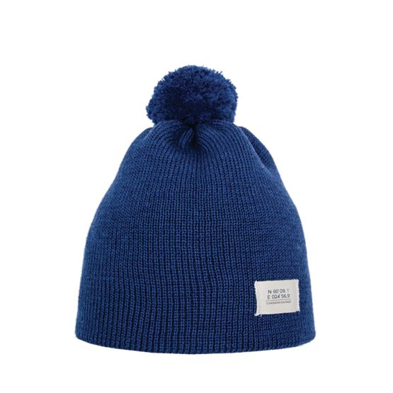 HELSINKI Junior merino wool beanie denim blue